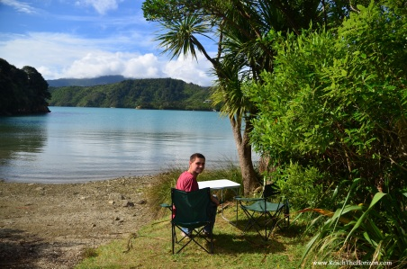 Cowshed Bay Campground, Marlborough Sounds. Taken by PRaiMe PHOTO